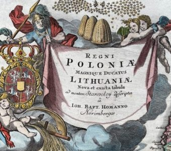 HOMANN JOHANN BAPTIST - Mapa Polski [Regni Poloniae Magnique Ducatus Lithuanie]