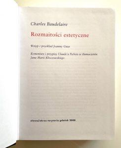 BAUDELAIRE CHARLES - Rozmaitości estetyczne