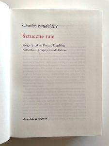 BAUDELAIRE CHARLES - Sztuczne raje