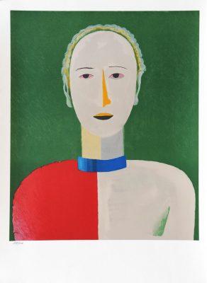 MALEWICZ KAZIMIERZ Portret kobiety [litografia numerowana]