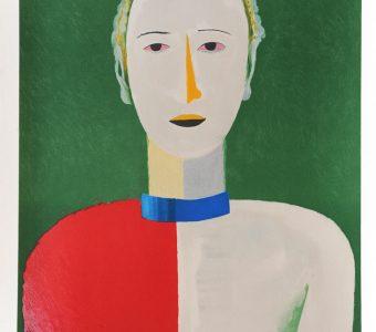 MALEWICZ KAZIMIERZ - Portret kobiety [litografia numerowana]