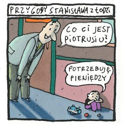 RACZKOWSKI MAREK Przygody Stanisława z Łodzi [rysunek sygnowany] 2